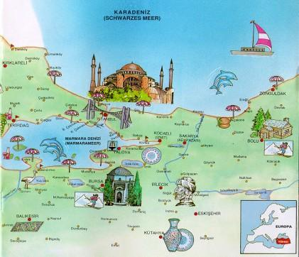 Map of ISTANBUL - TURKEY